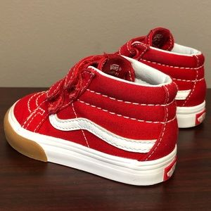 Vans Unisex Infant Shoes Size 5 SK8-Mid Red/White